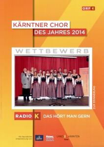 Urkunde Chor des Jahres 2014